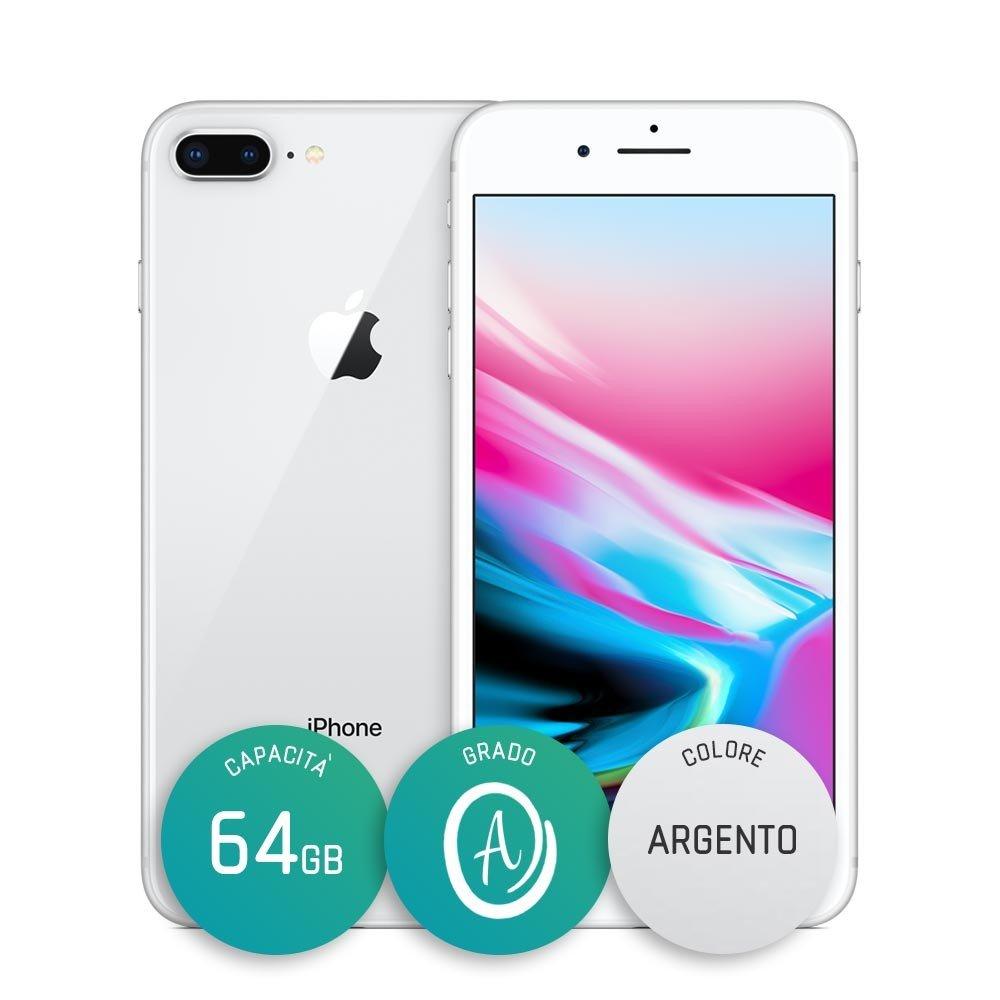 iPhone 8 Plus Ricondizionato – 64GB – Grado A – Argento