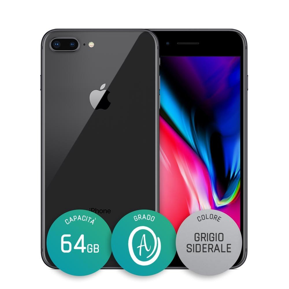 iPhone 8 Plus Ricondizionato – 64GB – Grado A – Grigio Siderale