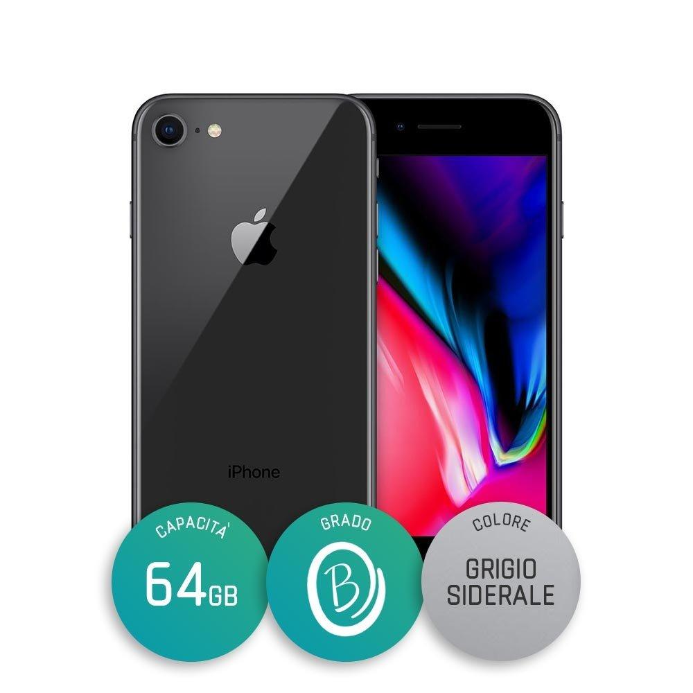 iPhone 8 Ricondizionato – 64GB – Grado B – Grigio Siderale