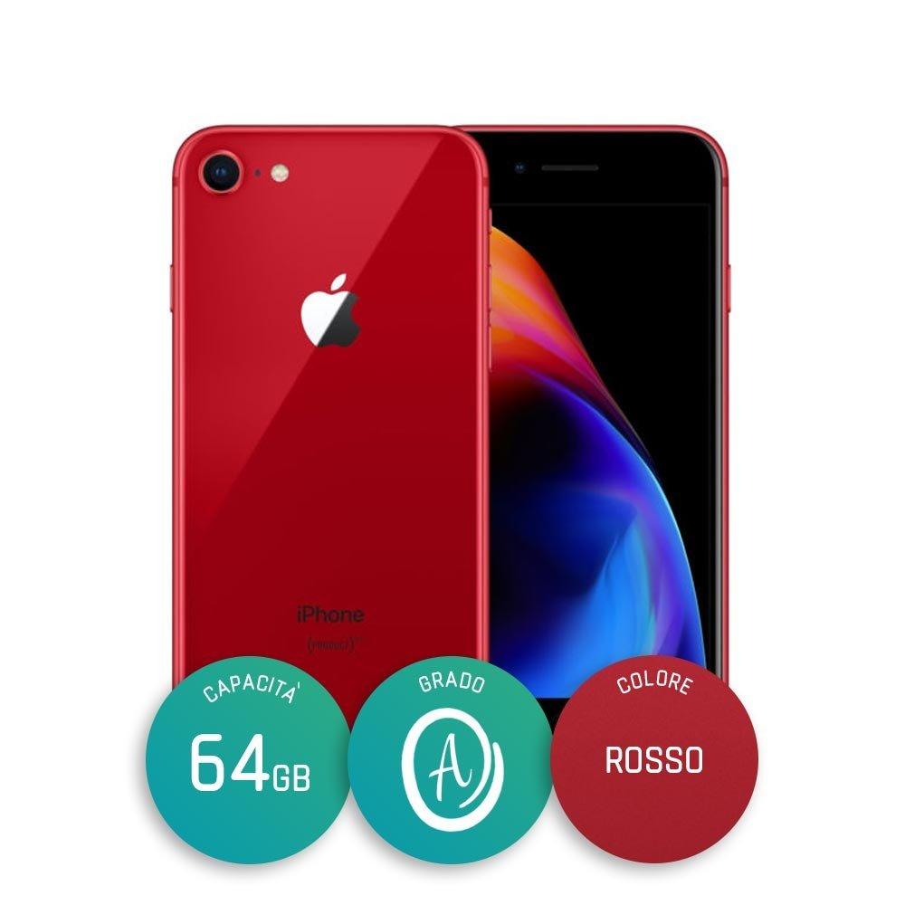 IPHONE 8 RICONDIZIONATO – 64GB – GRADO A – RED